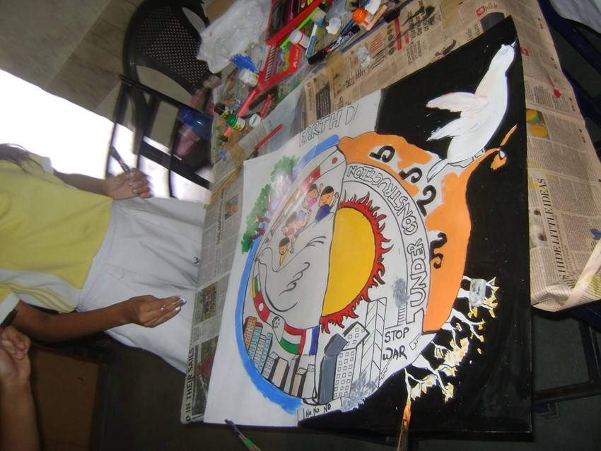 sps inter house poster making competition earth day